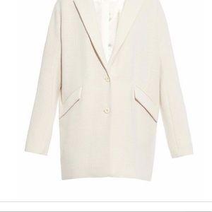 Oversized coat style by Zara